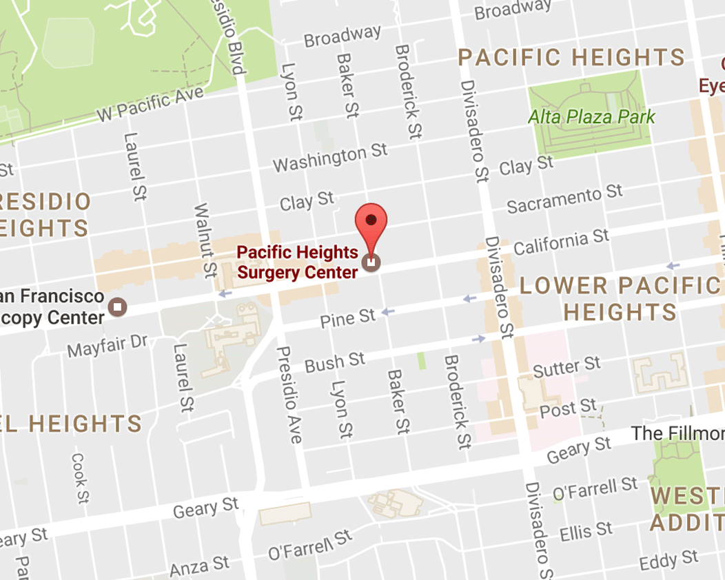 Pacific Heights San Francisco Map.Location Contact Pacific Heights Surgery Center